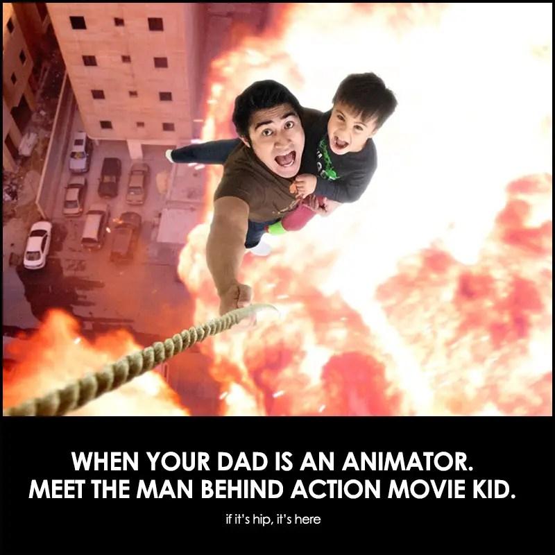 the dad behind action movie kid