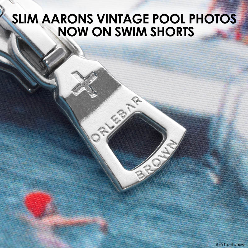 Slim Aarons Olebar Brown Swim Shorts