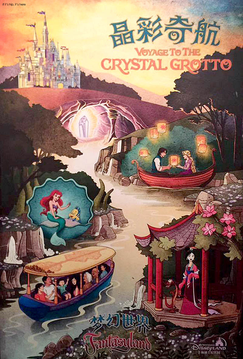 photos of shanghai disneyland attractions and art