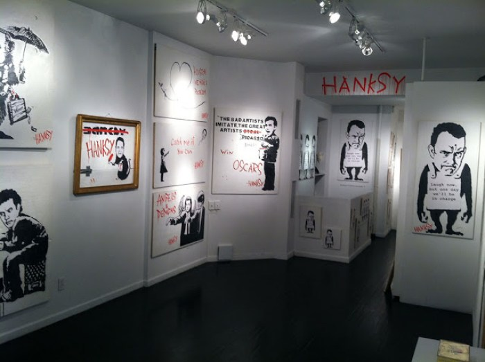 Hanksy's first show at Krause Gallery, 2012