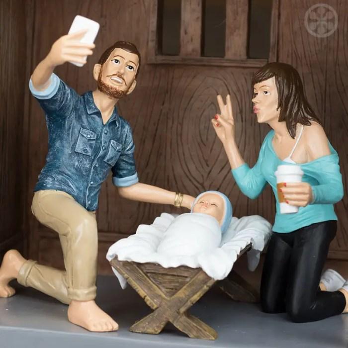 modern joseph and mary nativity