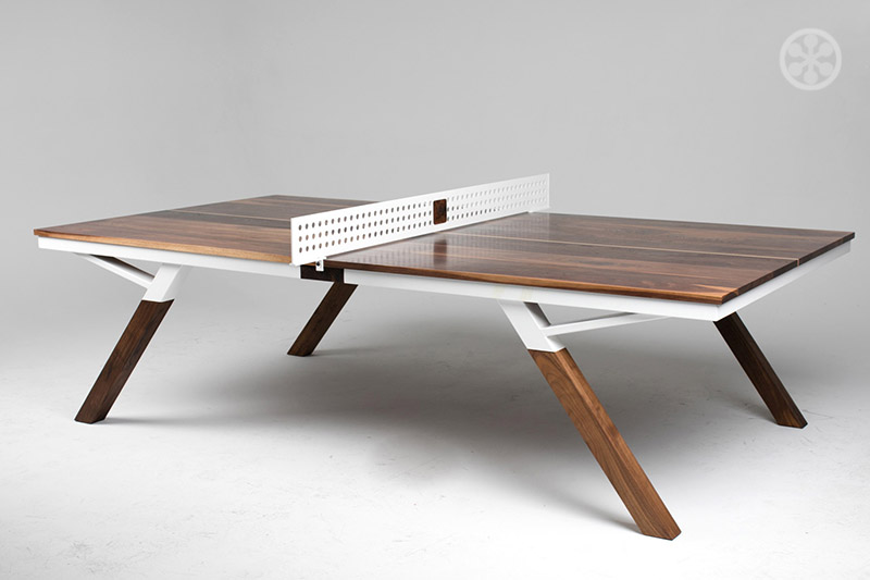 The Woolsey Walnut Wood Ping Pong Table / Dining table