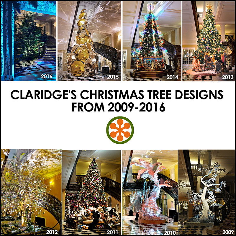 A Look At The Claridge 39 S Christmas Trees From 2009 2016