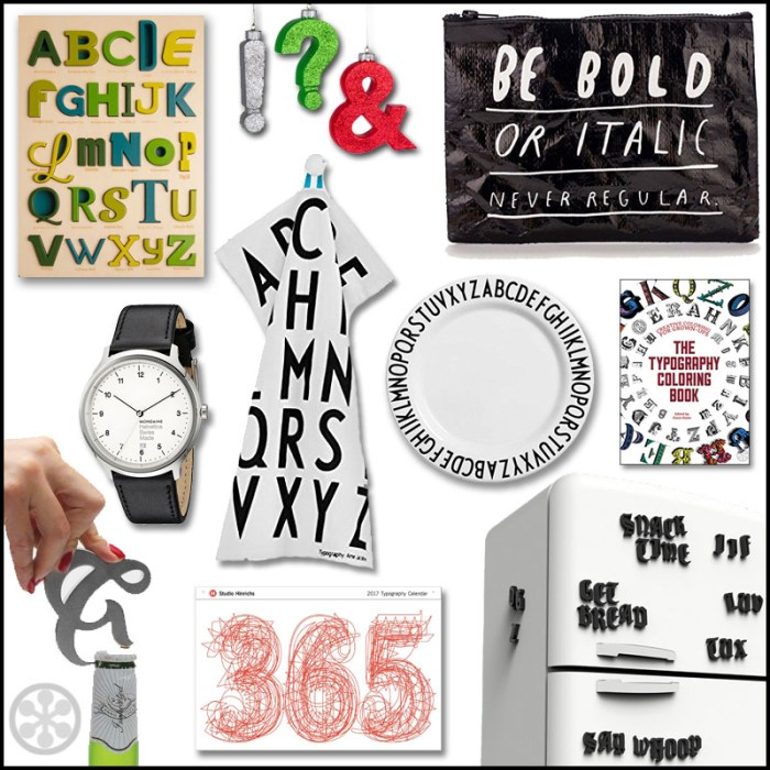 gifts for type lovers