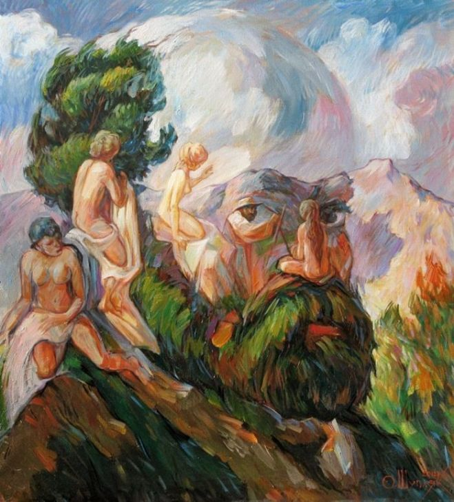 Oleg Shuplyak's Hidden Figures Paintings Of Artists