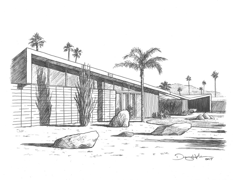 butterfly roof drawing by danny heller