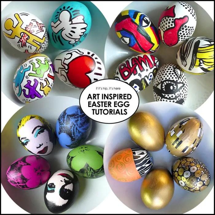art-inspired easter egg tutorials