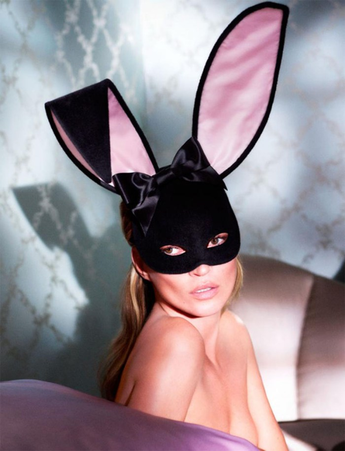 Kate Moss as a bunny