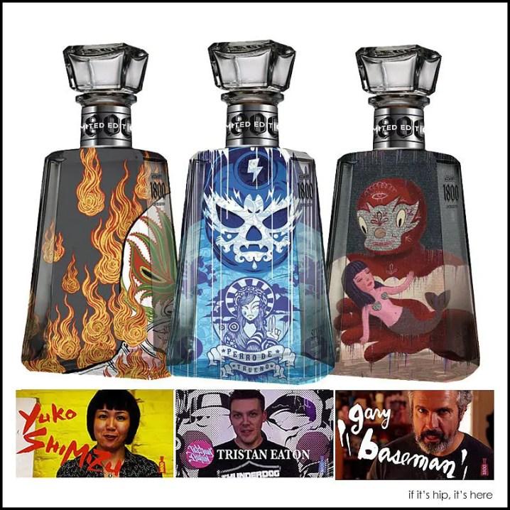 Artist bottle designs for 1800 Tequila