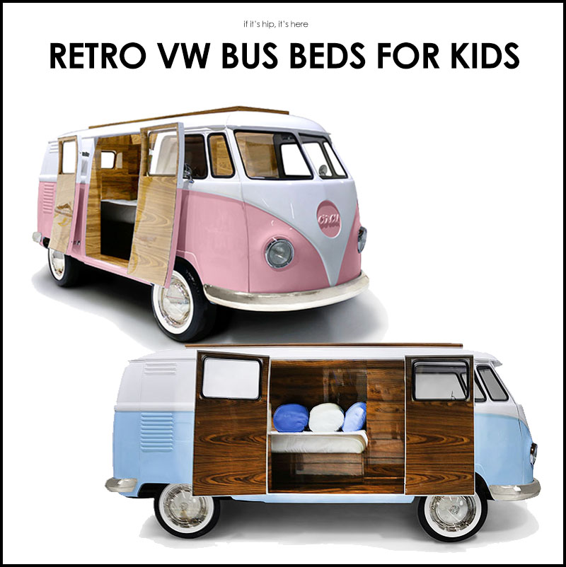 Available In Pink Or Blue Is This Really Cool Replica Of The Classic  Volkswagen Camper Van (or Hippie Bus) That Has Been Designed To Function As  A Bed ...