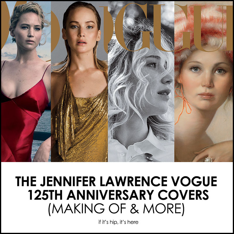 Jennifer Lawrence Is Gracing The Cover Of Vogues 125th Anniversary September Issue Not Once But Four Times Fashion Magazine Commissioned