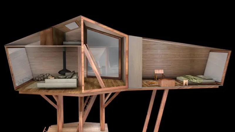 Sophisticated Modern Antony Gibbons Inhabit Treehouse on