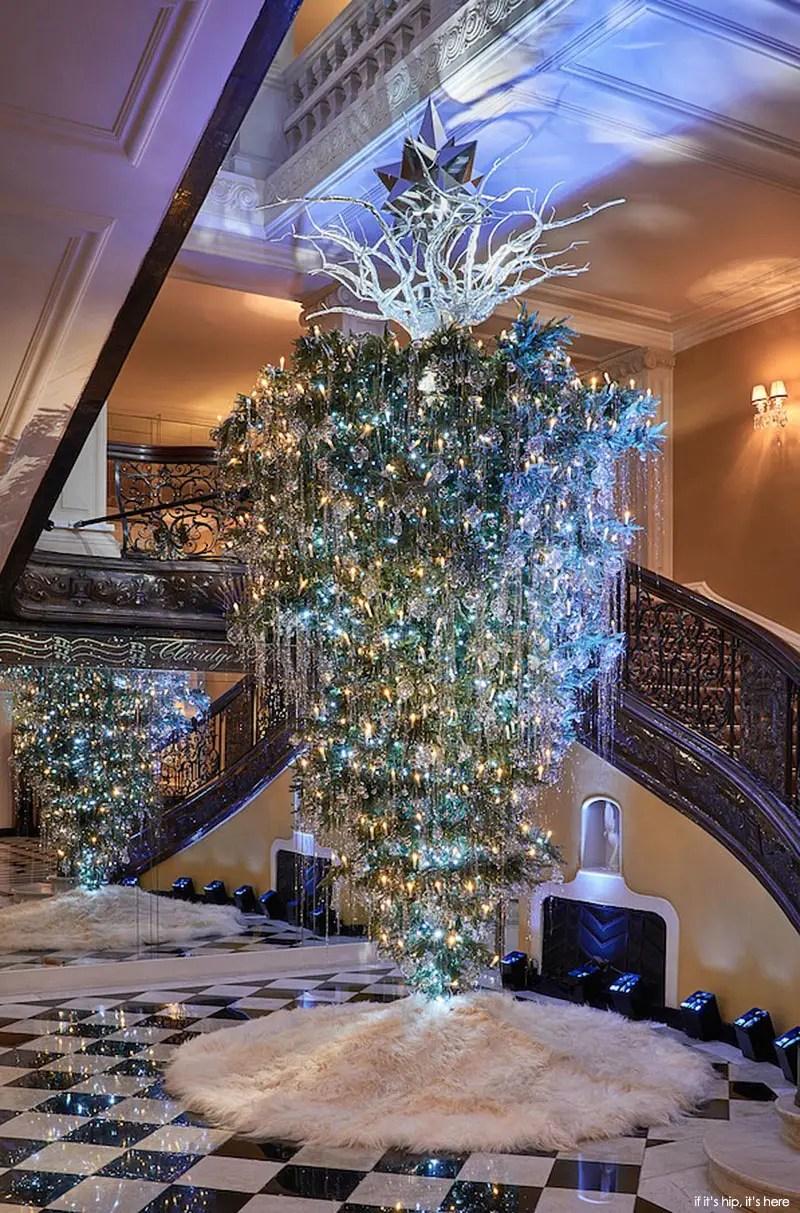 Lagerfeld 39 S Upside Down Christmas Tree For Claridge 39 S