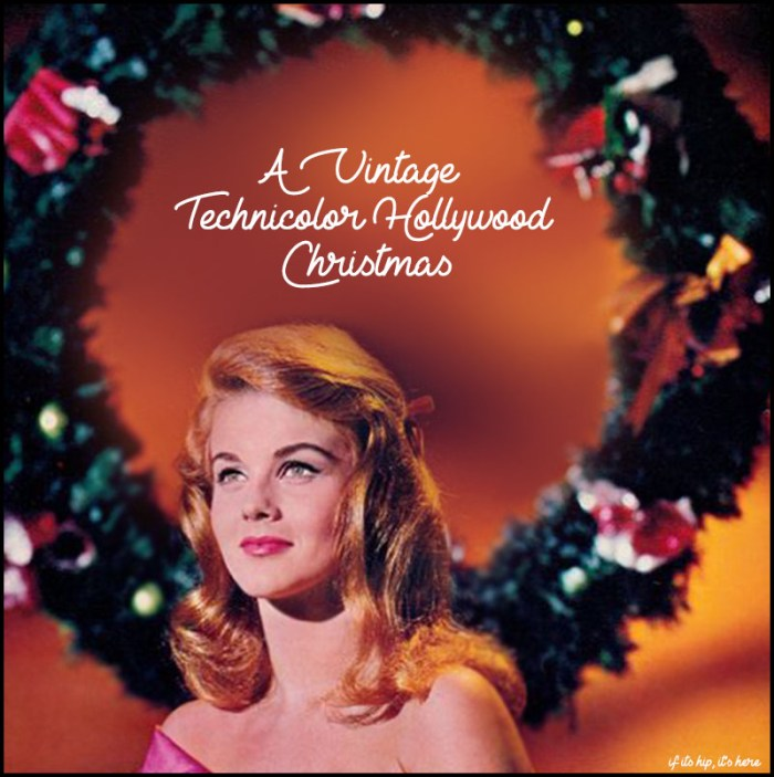 Vintage Hollywood Christmas photos