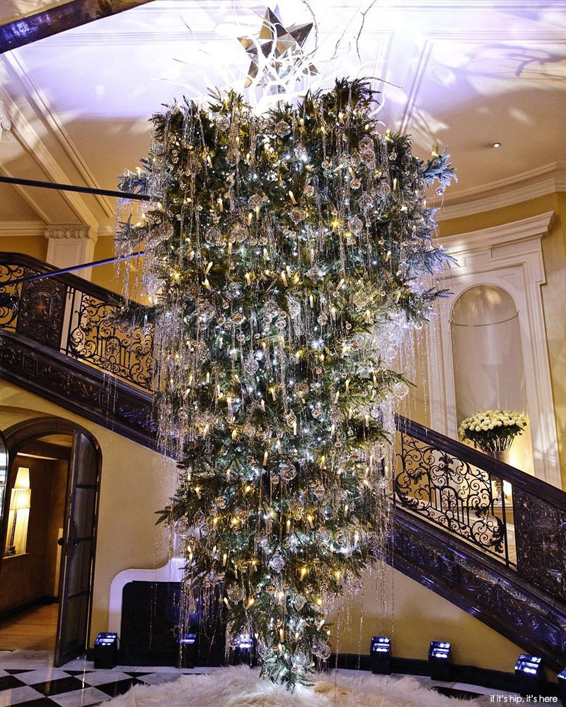 Lagerfelds upside down christmas tree for claridges claridges general manager paul jackson said we are honoured and delighted that karl lagerfeld agreed to design our annual claridges christmas tree arubaitofo Gallery