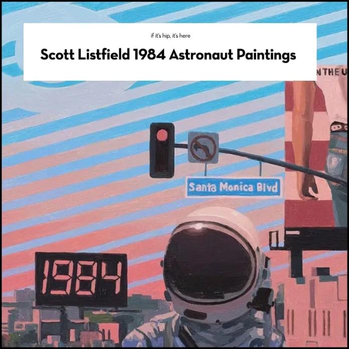 Scott Listfield Astronaut paintings