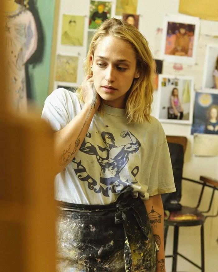 Actress/ Artist Jemima Kirke in her Brooklyn Studio