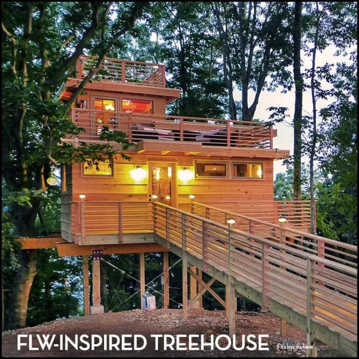 FLW-Inspired Treehouse