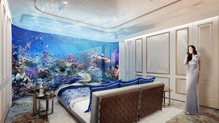 bedroom in signature edition floating seahorse