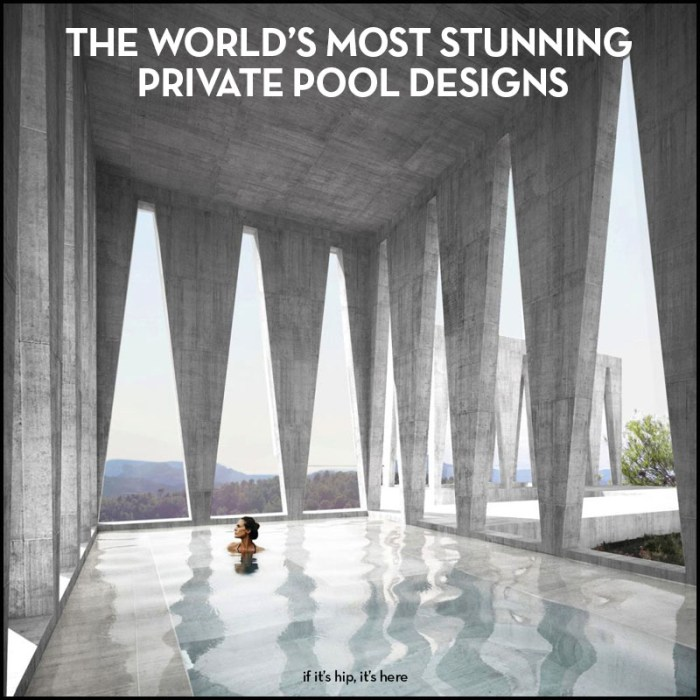 world's most stunning private pools