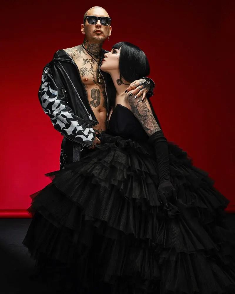 Get A Load Of Kat Von D\'s Gorgeous Glam Goth Wedding – if it\'s hip ...