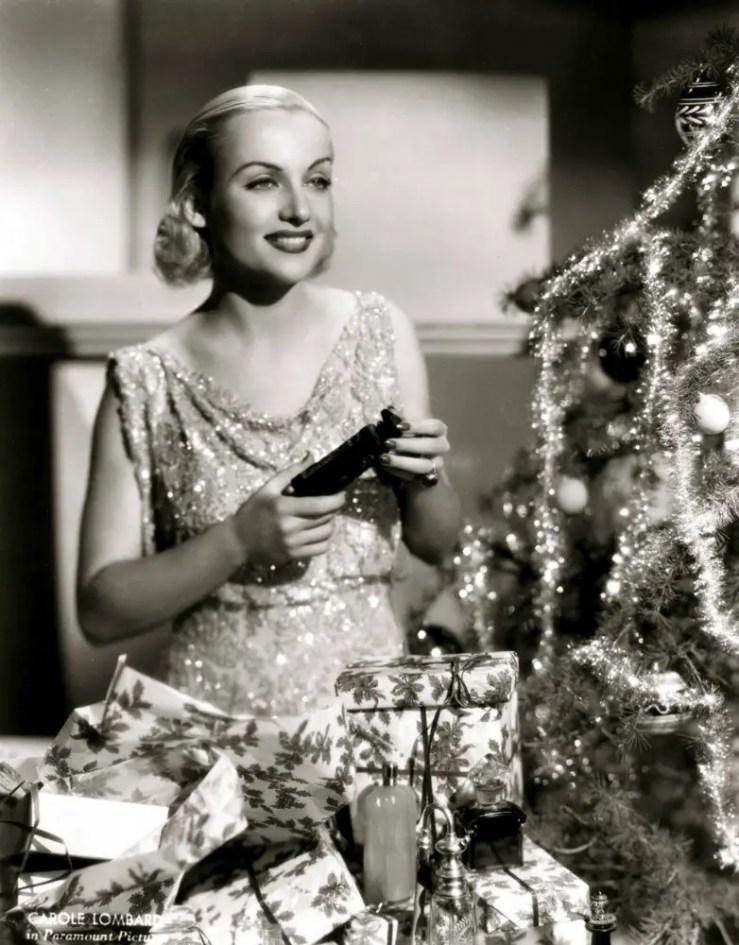 Carole Lombard at christmas