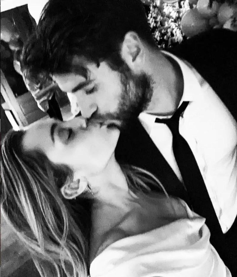 Miley Cyrus and Liam Hemsworth wedding photos
