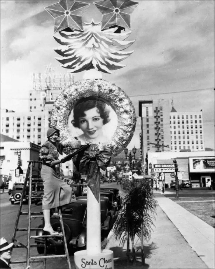 Claudette Colbert christmas wreath