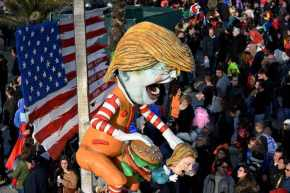 Fabrizio Galli's Emperor Trump for Italy's Viareggio Carnival