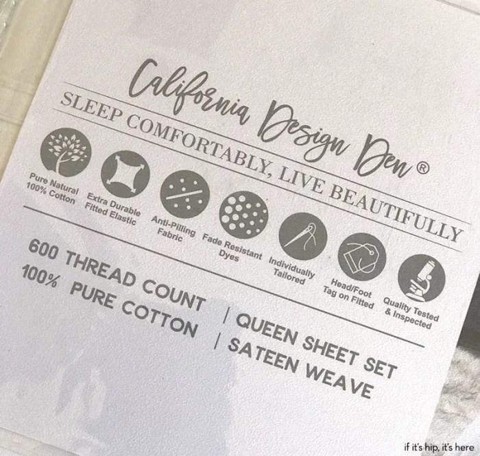100% pure cotton sheets