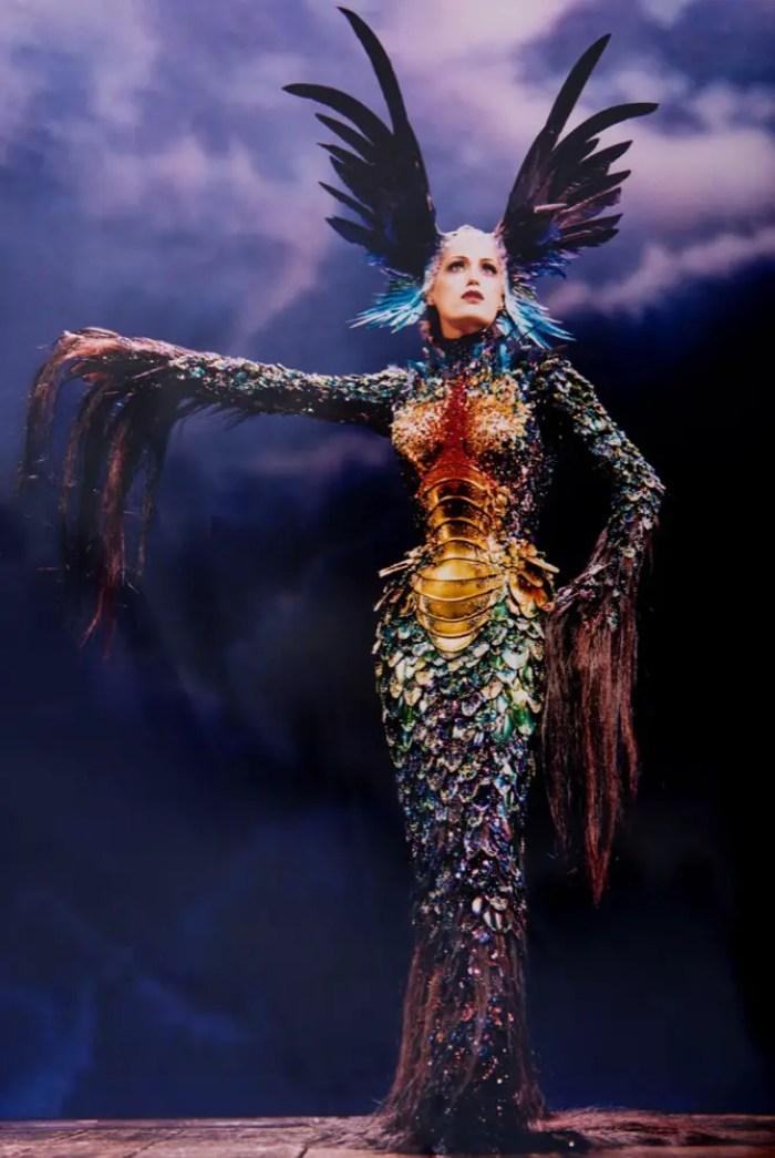Yasmin LeBon in Thierry Mugler
