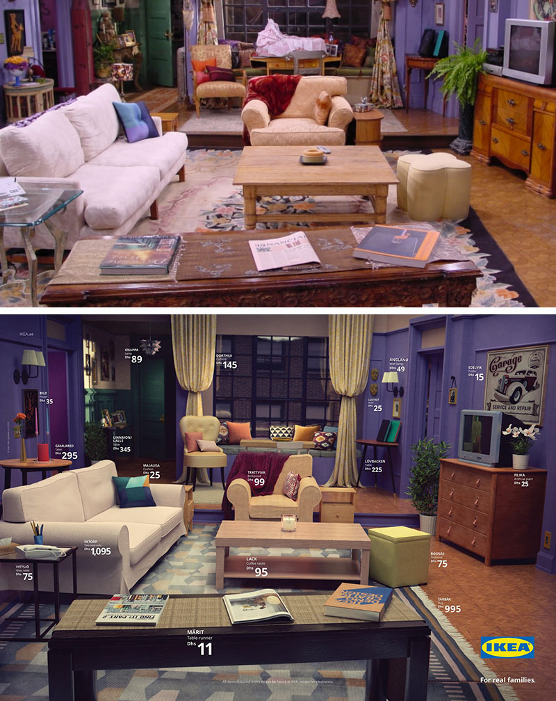 Ikea Living Room Photos ikea real life series living rooms: friends, the simpsons