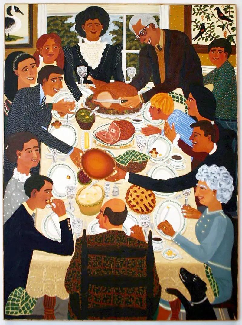 David Bates, Thanksgiving Dinner, 1982