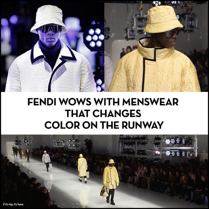 Fendi and Anrealage Color-Changing Menswear