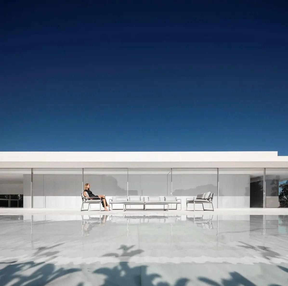 FS Blau collection outdoor furniture hofmann house