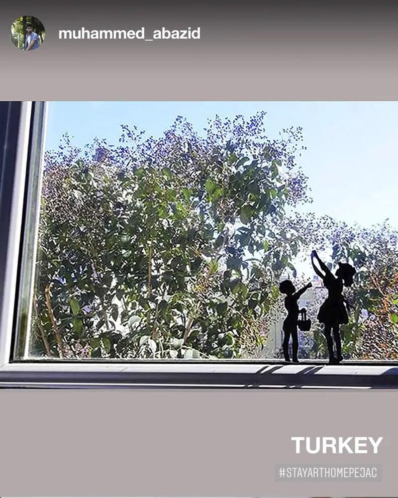 turkey window art