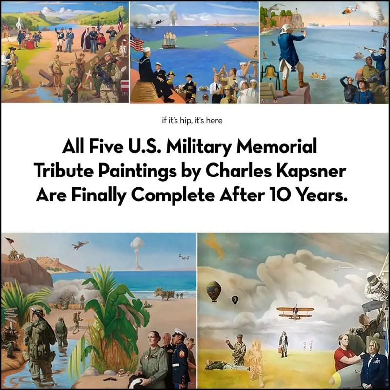 Military Memorial Tribute Paintings by Charles Kapsner