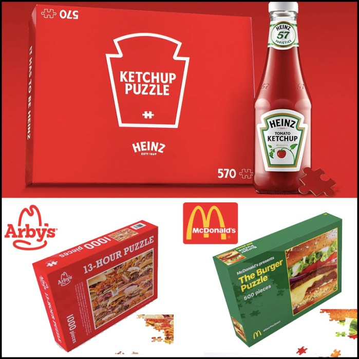 Fast Food branded jigsaw puzzles