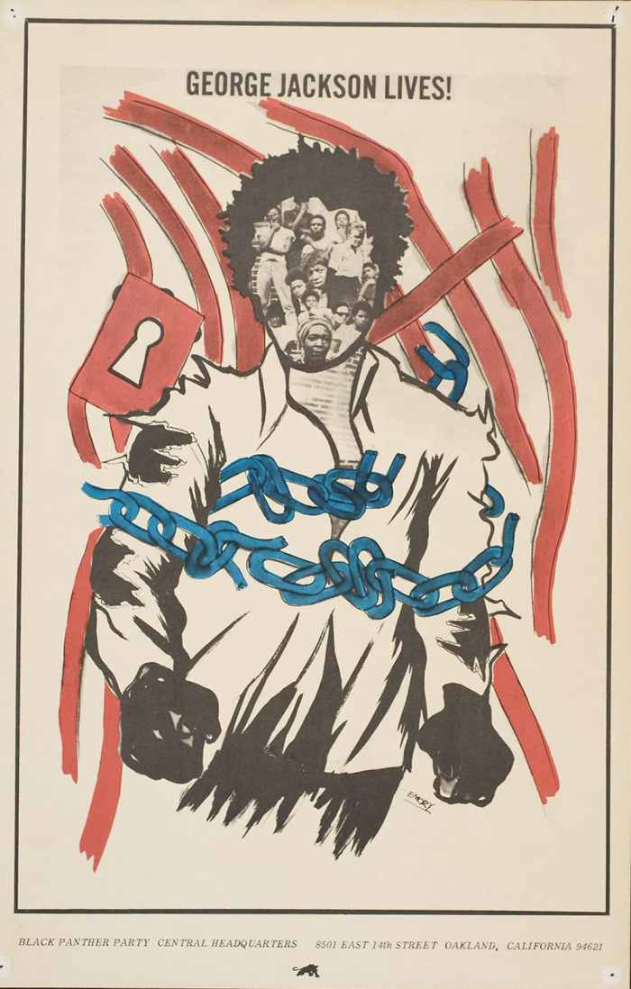 George Jackson Lives 1971 black panthers poster