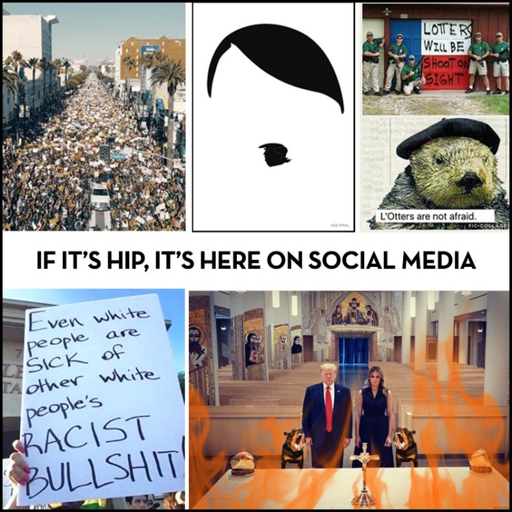 if it's hip it's here on social media