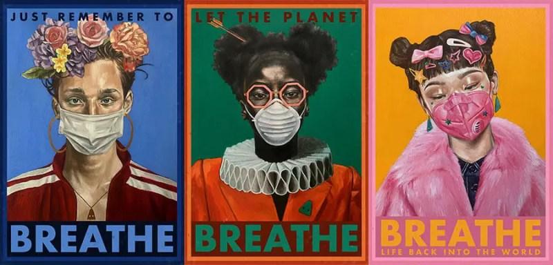 Damien Cifelli Quarantine-Poster-mask trio