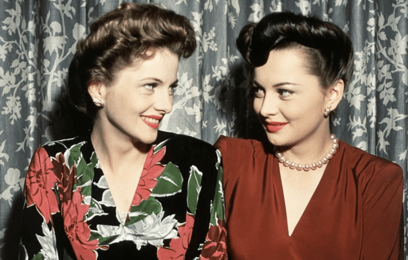 Olivia de havilland With sister actress Joan Fontaine