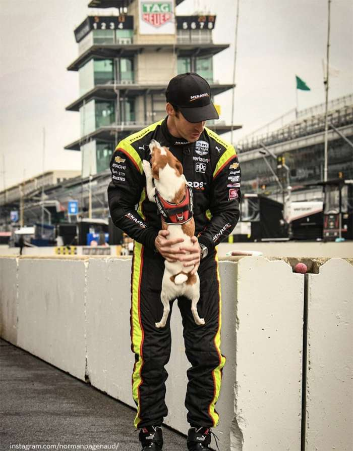 2019 Indy 500 winner simon pagenaud and jrt Norman
