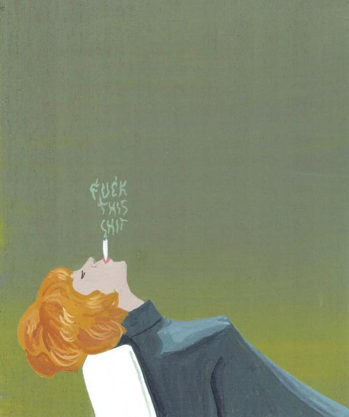FTS painting woman smoking