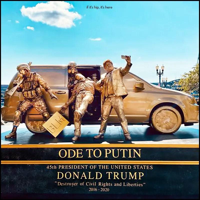 Trump Statue initiative Living Statues