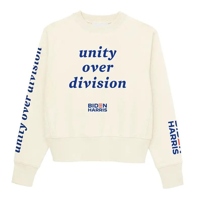 unity over division thakoon sweatshirt
