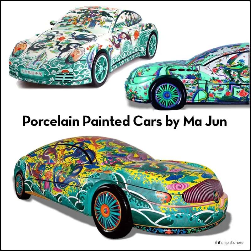 Ma Jun Porcelain Painted Cars