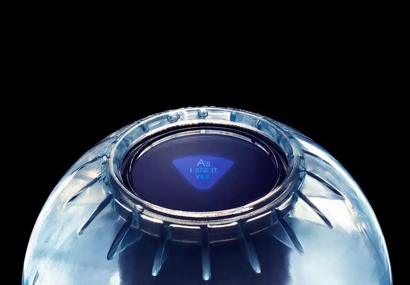 transparent magic 8 ball