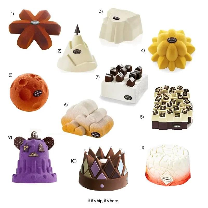 all the haagen dazs designer cakes