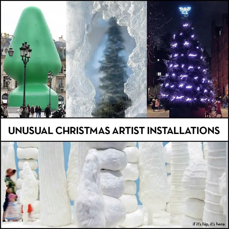 christmas artist installations